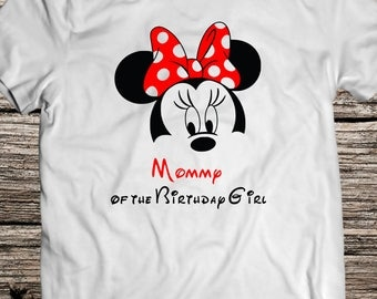 Minnie Svg Minnie Mouse Eps Mom of the Birthday Girl Iron On Svg Eps Dxf Pdf Png Jpg AI Files  for Shirt Digital Download Minnie download