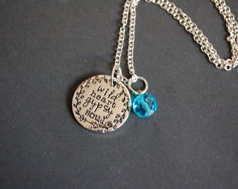Wild heart gypsy soul necklace