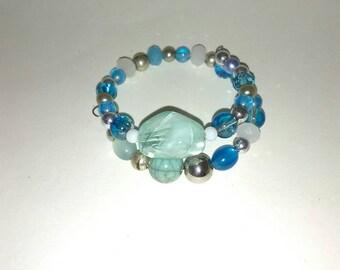 Blue stone Bangle bracelet