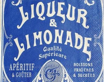 Liquor and lemonade #AL045 advertising paper TOWEL