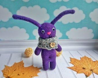 Autumn Bunny Amigurumi crochet toy