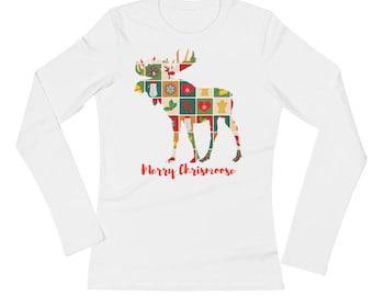 Merry Christmoose Christmas Moose Tshirt