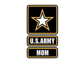 US Mom SVG and Studio 3 Cut File Decal Cut Files Logo Military Silhouette Cricut Decals Cuts Logos United States of America Army