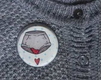 """Hand Painted XXL-button """"Running with Me"""""""