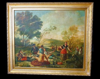 "Excellent large format copy of ""La Merienda"" by Francisco Goya"