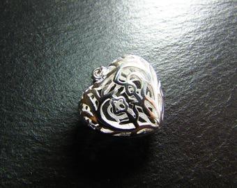 1 925 sterling silver openwork heart pendant