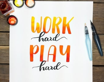 Work hard, play hard in watercolor