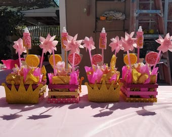 Baby Shower Centerpieces / Pink and Gold Centerpieces / Girls Birthday Party Centerpieces