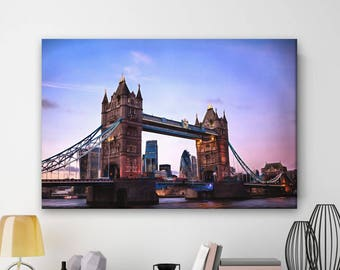London Bridge canvas, England canvas, Large art print, Canvas print, Wall decor, Canvas printing, home design, Gift for her, Gift for him