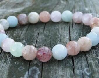 Opal Bracelet | Gemstone Bracelet | Beaded Bracelet | Unicorn Birthday Gift | Layering Bracelet | Bridesmaid Gift Idea | Bracelet for Women