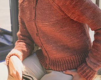 PDF Knit Button-Front Cardigan (EASY)