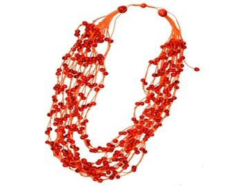 Necklaces - Orange Apaxi Necklace