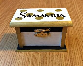 Sorority Pin Box // Kate Spade Gold Dot Design
