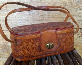Vintage Mexican Tooled Purse