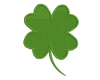 Clover 4 Leaf Embroidery Design. St.Patrick's Clover Embroidery  Design. Shamrock Embroidery design.