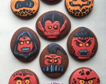 Nexo Knight's Monsters Cookies  (Set of 9)