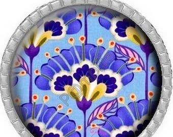 Cabochon pendant - Blue Iris (803)