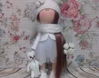 Tilda doll Interior doll Angel doll Handmade doll Soft doll Textile doll Art doll Cloth doll White doll Fabric doll Baby doll
