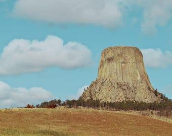 Travel Photography, Devils Tower, Wyoming, Nature Photo, Digital Download, Digital Wall Art,Printable Art,Wall Decor,Home Decor,travel print