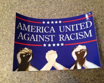 American United Against Racism sticker