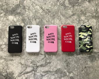 Anti Social Social Club iPhone Cases 6/6plus/7/7plus