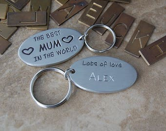 The  best MUM in the world peronalised pewter keyring