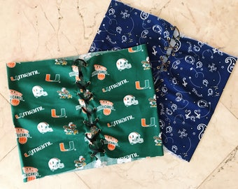 Custom lace-up college fabric tube top!