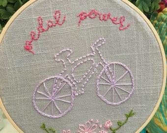 Pedal Power Bicycle Girl Nursery