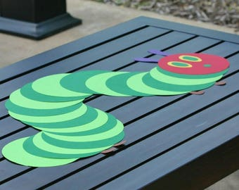 The Very Hungry Caterpillar Decoration, Green birthday decoration