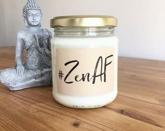 The hashtag candle! Personalised scented soy wax candle. Hand poured vegan and cruelty free. Christmas, birthday gift, yoga zen meditation
