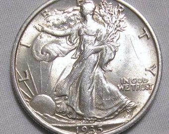 1935 Walking Liberty Half Dollar AU BU