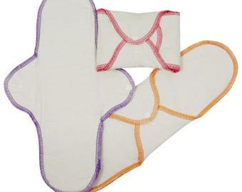 Night Organic Cotton Sanitary Pads (3 Pack) Natural