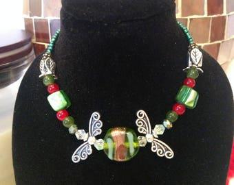 Holiday Angel Gypsy Beaded Bracelet