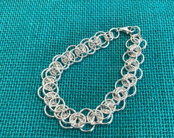 Beautiful Sterlng Silver Maille Bracelet