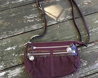 Nylon Burgundy Brighton Bag