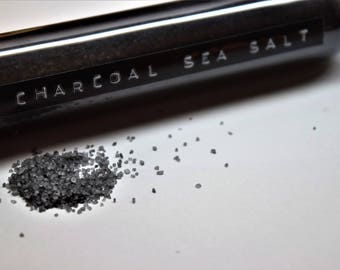 Activated Charcoal Sea Salt (3oz tube)