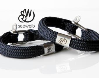Couple bracelets, friendship bracelets,  best friend bracelets, bracelet pack, charm bracelets, anchor bracelet, rope bracelet, girls