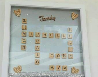 Family scrabble frame