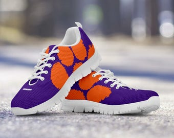 Clemson Tigers Football Fan Custom Running Shoes/Sneakers/Trainers - Ladies + Mens Sizes