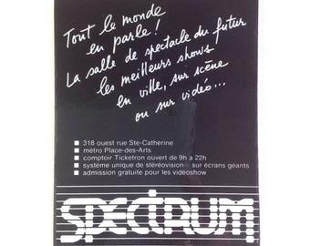 Fridge Magnet 'Montreal Spectrum' Advertisement Vintage Montreal Souvenir Montreal Memorabilia Montreal Venue Downtown Mtl Music No QC-27
