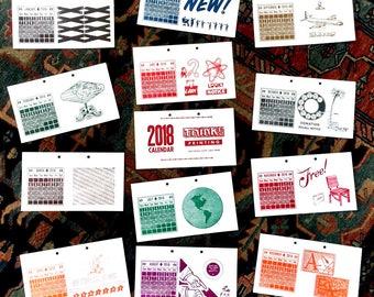 2018 Letterpress Limited Edition Calendar