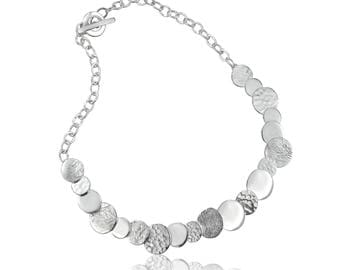 Overlapping Disc Necklace