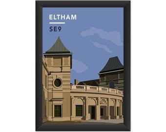 Eltham Palace SE9 - Giclée Art Print - South London Poster