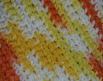 Hand crocheted 100% cotton dishcloths