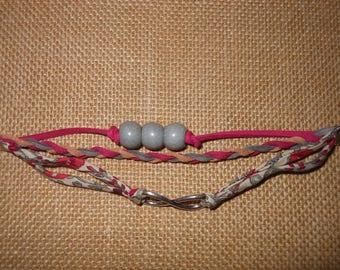 Bracelet several liberty rank and Fuchsia