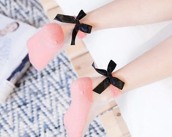 Bow socks (set of 2)