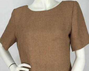 70s tweed top/vintage tweed top