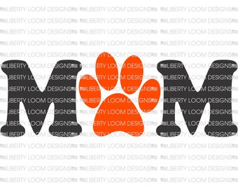 Mom with Pawprint