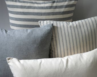 Pewter Collection // Decorative Throw Pillows 16x16 + 10 Other Sizes // Farmhouse Style Pillows // Coordinating Pillow Sets