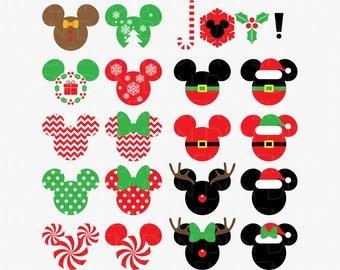 Mickey Christmas SVG, DXF, Mickey Christmas Clipart, Mickey Christmas svg, Mickey Christmas, Mickey Christmas png, Mickey Christmas Vector